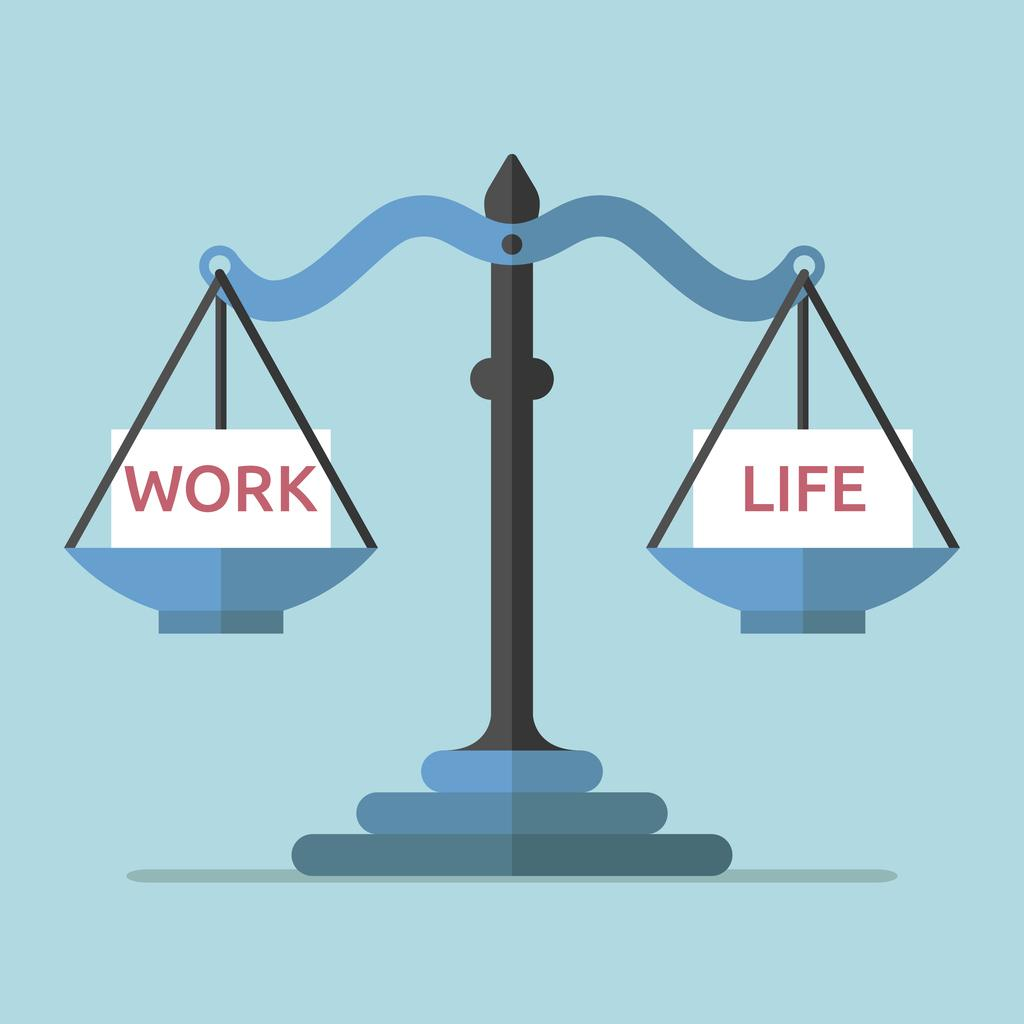 Work and life balancing on a scale