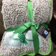Faculty Success give-away for January is a UNT blanket.