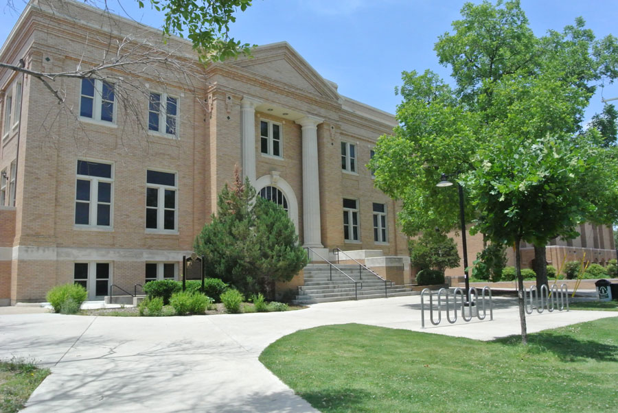 Curry Hall, one of UNT's oldest buildings, is still in use today.